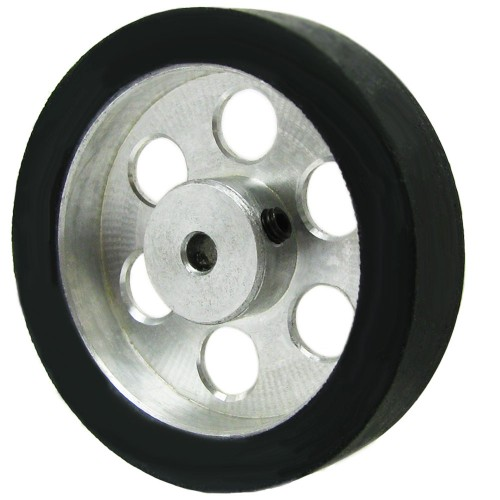 40mm Diameter 3mm Hole Size Aluminum Robot wheel