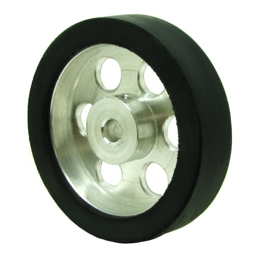 40mm Diameter 4mm Hole Size Aluminum Robot wheel