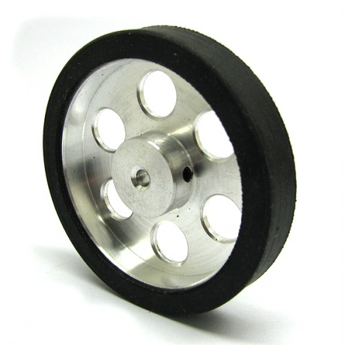 50mm Diameter 3mm Hole Size Aluminum Robot wheel