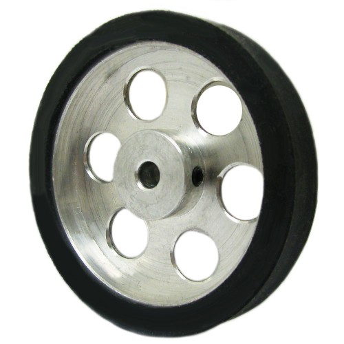 50mm Diameter 4mm Hole Size Aluminum Robot wheel