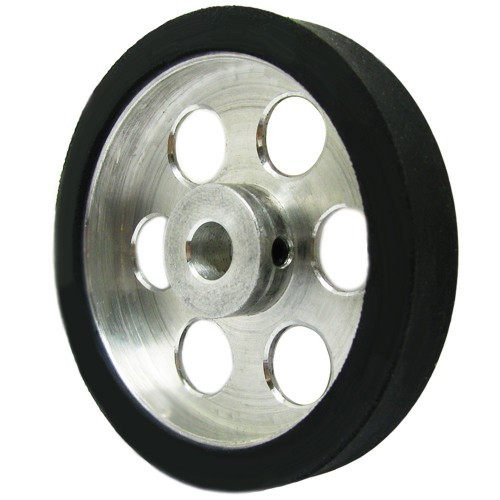 50mm Diameter 6mm Hole Size Aluminum Robot wheel