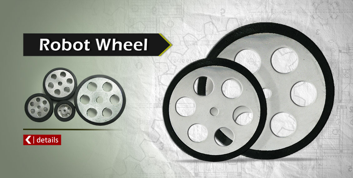 Aluminum wheel for robocup competitions