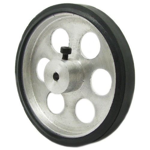 70mm Diameter 4mm Hole Size Aluminum Robot wheel