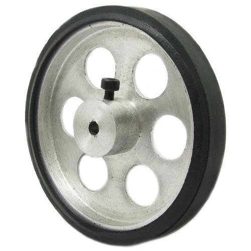 70mm Diameter 4mm Hole Size Aluminum Robot wheel