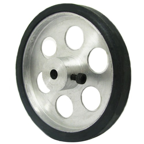 70mm Diameter 5mm Hole Size Aluminum Robot wheel