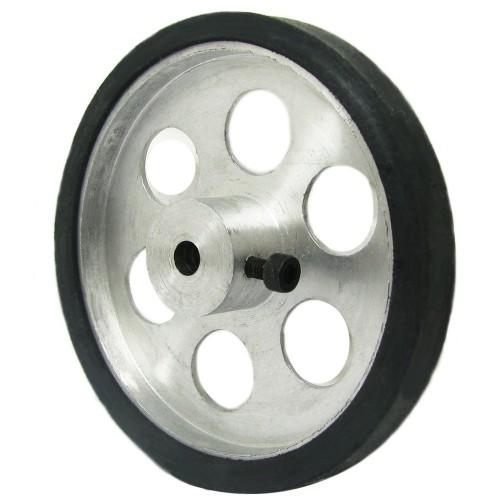 70mm Diameter 5mm Hole Size Aluminum Robot wheel