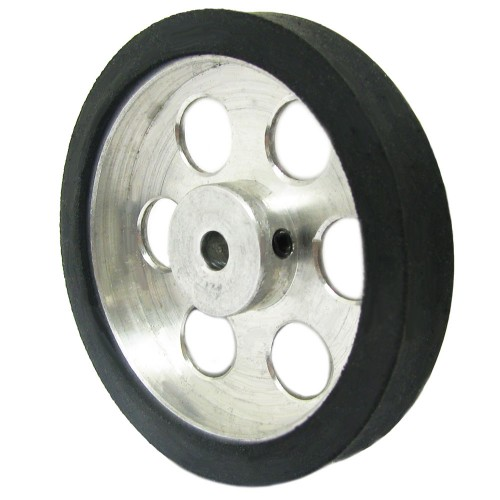70mm Diameter 6mm Hole Size Aluminum Robot Wheel