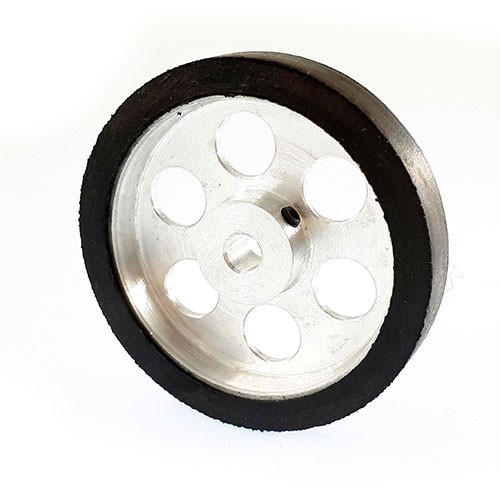 50mm diameter 5mm hole size aluminum robot wheel