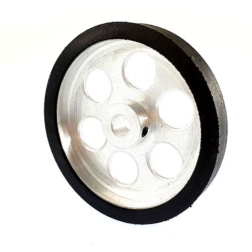 60mm Diameter 6mm Hole Size Aluminum Robot Wheel