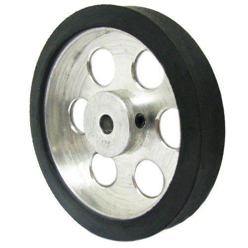 60mm Diameter 5mm hole size Aluminum Robot Wheel