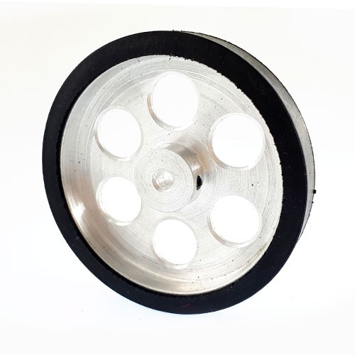 60mm Diameter 4mm hole Size Aluminum Robot Wheel
